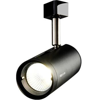 雷士照明(NVC)led轨道灯射灯导轨灯 COB光源大功率灯 背景墙家用展厅轨道灯 黑色灯体24w中性光