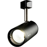 雷士照明(NVC)led轨道灯射灯导轨灯 COB光源大功率灯 背景墙家用展厅轨道灯 黑色灯体24w中性光 *3件