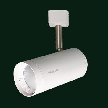 雷士照明(NVC)led轨道灯射灯导轨灯 COB光源大功率灯 背景墙家用展厅轨道灯 白色灯体24w中性光