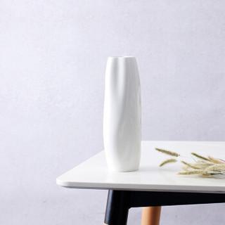 佳佰 26cm现代艺术纹理陶瓷花瓶 北欧简约田园家居装饰摆设花插 海纹
