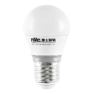 雷士照明NVC LED光源灯泡 家用螺口灯泡球泡灯 暖白黄节能灯0-5W 高亮耐久节能E27螺口小灯泡