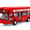 知識花園 倫敦單層巴士 合金回力車 紅色(聲光 雙門可開)
