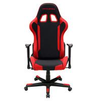迪锐克斯 (DXRACER) F87 电脑椅子 可转办公椅 人体工学椅 电竞椅 黑红 游戏椅子