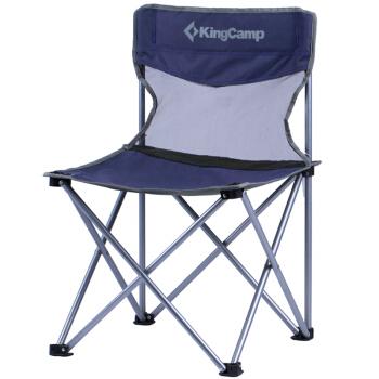 康尔 KingCamp 折叠椅 靠椅午睡椅子 便携沙滩椅休闲钓鱼椅懒人椅 户外露营野餐居家两用 中号KC3832蓝色