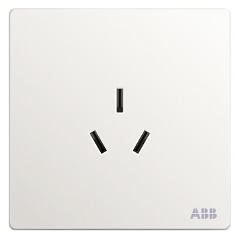 ABB开关插座面板 16A三孔空调插座 轩致系列 白色 AF206