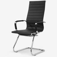 伯力斯(Becauses)伯力斯 电脑椅 会客会议椅 办公椅子 职员座椅 黑色MD-056