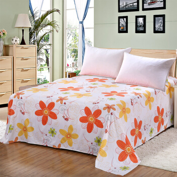 艾薇(AVIVI)床单单件纯棉40支斜纹大被单双人床1.5米床200 230(星缘)