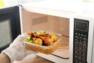 力诺 耐热玻璃保鲜盒 正方形310ml *2件