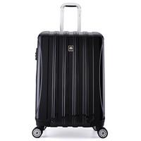 DELSEY 戴乐世 法国大使牌(Delsey)时尚炫彩拉杆箱25英寸轻盈PC旅行箱可扩容行李箱男万向轮黑色400