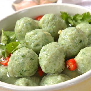 金锣 珍料肉丸 菠菜丸 1kg/袋 火锅食材