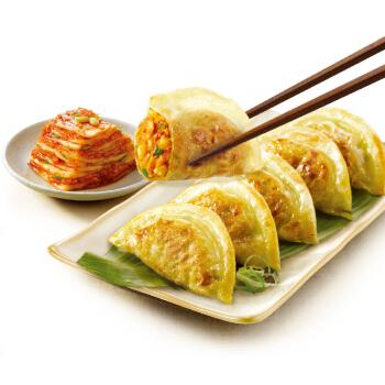 必品阁(bibigo) 韩式泡菜煎饺 640g(25只装 饺子 锅贴 早餐食材)