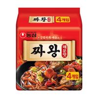 韩国进口 农心 方便面 辣炸王炸酱面 140g*4 火鸡面 速食拌面 *4件