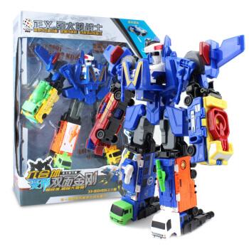 奥智嘉 变形玩具金刚机器人六合一拆装双面模型 儿童玩具 男孩玩具礼物