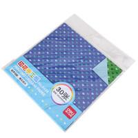 得力(deli)30张心形印花彩色手工纸 儿童折纸千纸鹤 小学生幼儿园手工剪纸6434