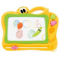 琪趣彩色兒童磁性畫板936A  磁力寫字板超大號寫字板寶寶涂鴉板 萌系卡通水果印章繪畫工具1-2-3-6歲益智玩具 *2件