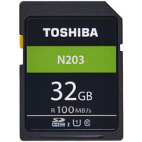TOSHIBA 东芝 N203系列 32GB SD卡 U1 C10