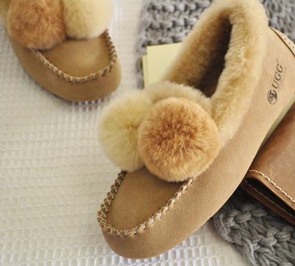 DK Sheepskin UGG DK211 女士加绒保暖内增高豆豆鞋