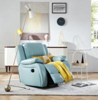 KUKa 顧家家居 6001 頭層牛皮功能沙發單椅 手動帶擺轉