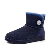 COZY STEPS 6D046 女士水晶扣短筒雪地靴