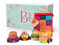 B.Toys 比樂 捏捏樂數字浮雕軟積木 回力車 *3件