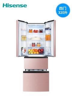 Hisense 海信 BCD-320WNK1DPUT 法式四门冰箱
