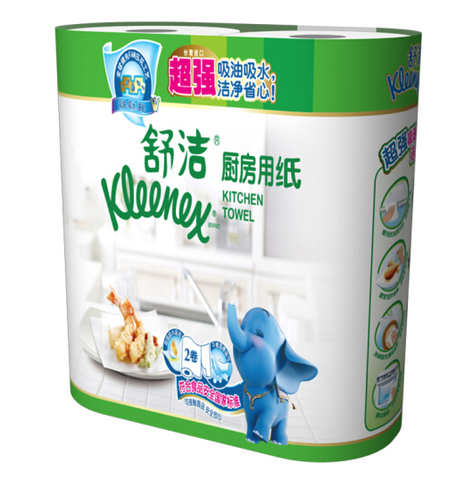 Kleenex 舒洁 厨房纸巾 60节*2卷装