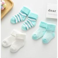 Langsha 浪莎 加厚款婴儿毛圈袜 3双装/5双装