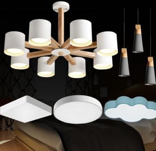 HD 吊灯 金属实木灯具(含全套LED光源) 实木套餐