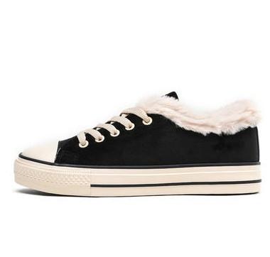 Semir 森马 1D088410342 女士系带加绒板鞋