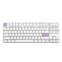 GANSS 高斯 GS87D 蓝牙无线机械键盘 Cherry银轴 白色半分紫版