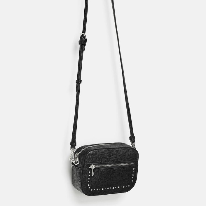ZARA 16685304040 铆钉饰小腰包型挎包
