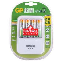 GP 超霸电池 充电套装 (KB01充电器+5号充电电池 4粒)