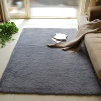 FOOJO 富居 加柔長絨客廳茶幾臥室地毯140*200cm灰色 *4件