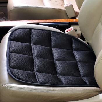 卡饰社(CarSetCity)竹炭方垫 汽车用品坐垫 四季座垫座套 通用型 单片黑色