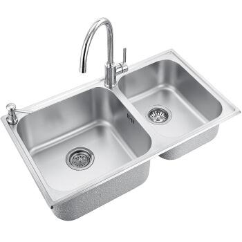 MOEN 摩恩 28120+GN60201 304不锈钢水槽双槽套装