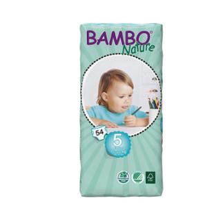 BAMBO 班博 自然系列 婴儿透气纸尿裤 5号 54片