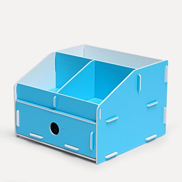 商品shuter 树德 u5200l 多功能桌面收纳盒 蓝图片