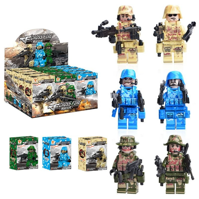 KAZI 开智 军事部队系列 CSF穿越火线6款 积木玩具