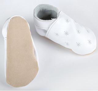 Star child 纯手工制作牛皮软底 宝宝学步鞋