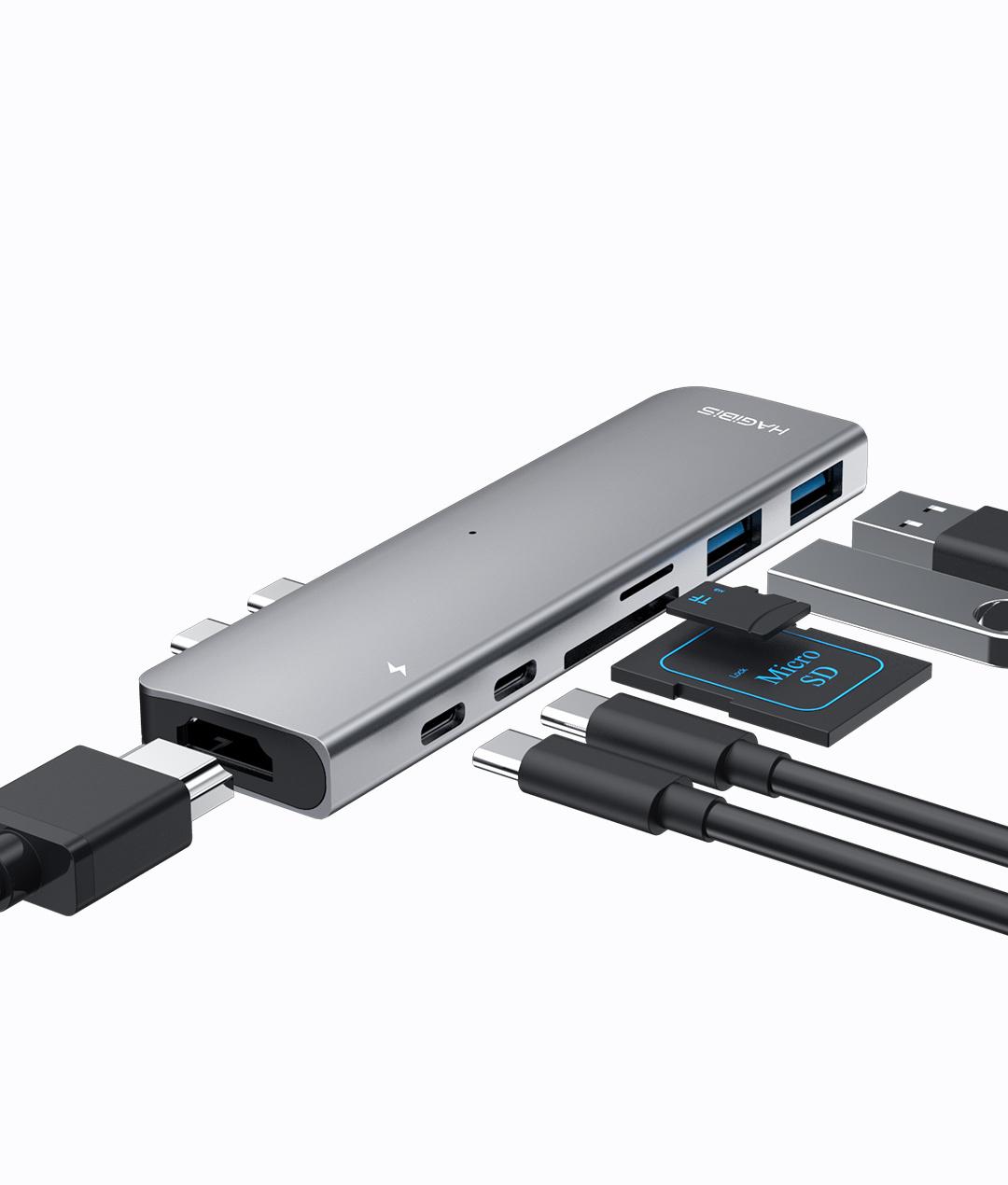HAGIBIS 海备思 DC7 MacBook USB-C 多功能扩展坞