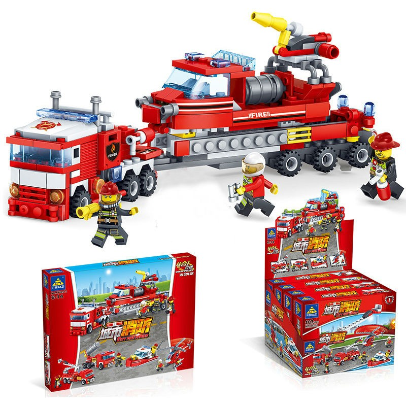 KAZI 开智 城市消防系列 80512 4合1消防中队
