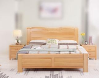 进畅家具 榉木双人床 1.8*2米
