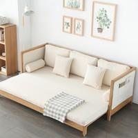 原始原素 GL-SF2201 纯实木沙发床 三人位