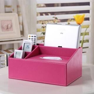 Richblue 悦利 1619 皮革纸巾盒 缤纷红色