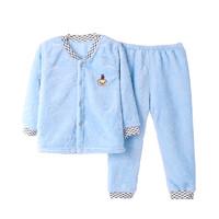 鲁东 儿童法兰绒睡衣套装 90-110cm