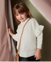 迷你巴拉巴拉女童毛衫2018年冬季新款寶寶荷葉邊裝飾柔軟寬松毛衣