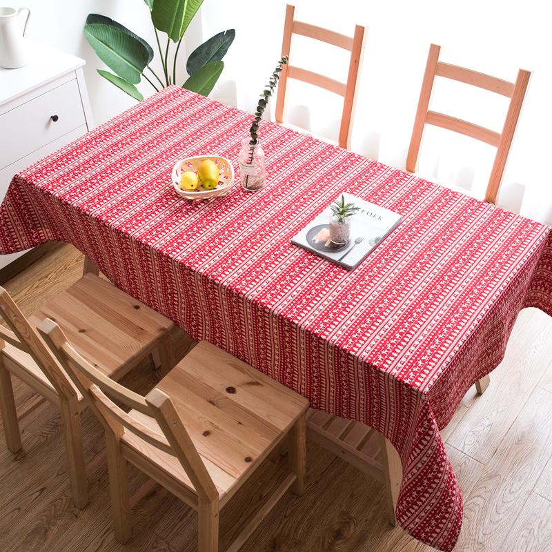Y&L 圣诞棉麻桌布