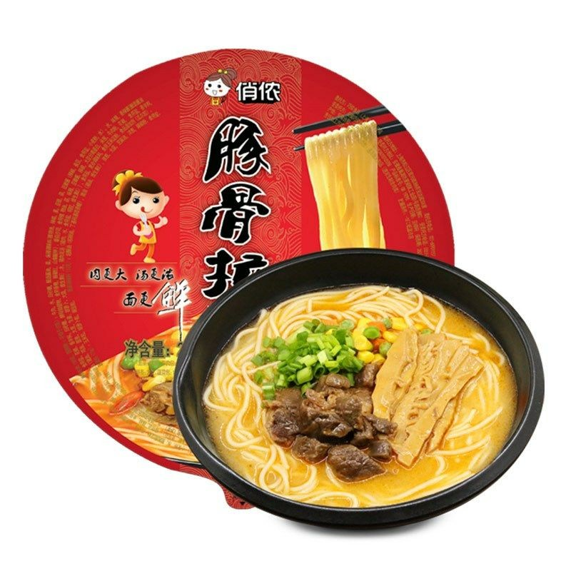 俏侬 豚骨拉面(香辣牛肉) 256g/盒
