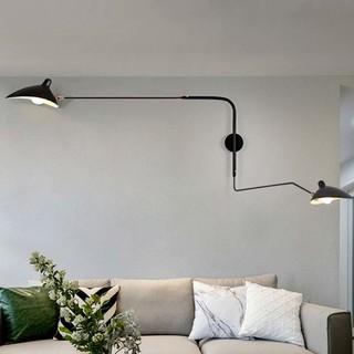 君临灯饰 北欧创意壁灯(黑色)上175 下112 高70cm带插头线 个性复古