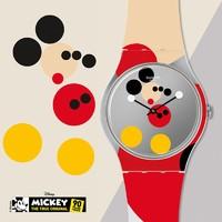 新品发售:SWATCH 斯沃琪 Disney SUOZ290S 中性时装腕表 米奇90周年艺术家特别款